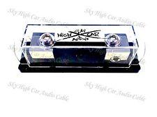 Sky High Car Audio 1/0 Gauge Set Screw ANL Fuse Holder BLACK Logo Nickel Plated