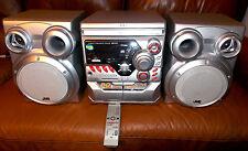 JVC 3-CD Bookshelf Stereo System W/ Speakers RC AM/FM AUX Dual Cassette CA-MXK10