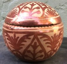Rare Hispano Moresque Copper Lustre Inkwell