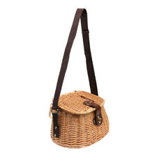 Fish Basket Wicker Durable Fisherman Fishing Cage Trout Fish Case Creel