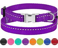 Nylon Dog Collar Safety Reflective Collars for Dog Puppy Small Dogs Metal Buckle
