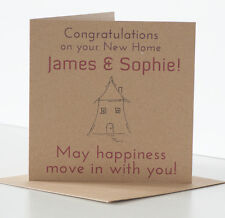 Personalised New Home Card Quirky rustic new house card Congratulations New Home