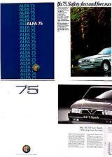 Two 1986 & 1989 ALFA ROMEO 75 Brochures - Australian & International Markets