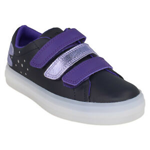 GIRLS CLARKS FLARE FLY KIDS HOOK & LOOP JUNIOR SHOES DRAGONFLY TRAINERS SIZE