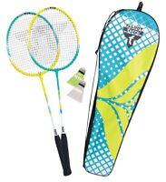 Badminton Spielset Erwachsenen Schläger Ball Spiel Freizeit Federball Playset