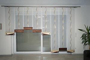 Moderne Gardinen set,Schiebevorhang, Schiebegardine, mit Paneelwagen , Nr.68