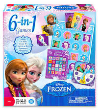 New Frozen 6-in-1 Game Collection Disney Elsa Anna Olaf Gift Kids Bingo Dominos