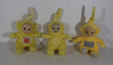 3 x THE TELETUBBIES YELLOW LALA SOFT TOY PLUSH - 2 WITH RATTLE SOUND