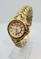 Seiko Kinetic Sports 100 Vintage Gold Stainless Steel Womens Watch Mint