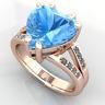Anello oro 18Kt con Topazio taglio Cuore e Diamanti taglio Brillante ct. 4,41