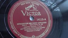 Jascha Heifetz - 78rpm single 12-inch – Victor #14115 Introduction And Rondo