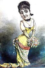 Adeline PattI Caricature 1881 PRIMA DONNA ITALIAN OPERA SINGER SOPRANO Puck Art
