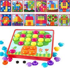 Kinder Mosaik Steckspiel Stecker Kreativ Spielzeug Montessori Pädagogische Spiel