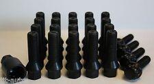 20 X M14 X 1.5 BLACK 40MM WHEEL BOLTS & LOCKING FIT AUDI TT MK1 98-05
