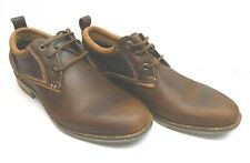 Steve Madden Size 7.5 Brown Leather Oxfords New Mens Shoes