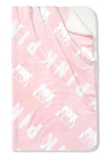 """NEW 1 VICTORIA'S SECRET PINK SUPER SOFT SHERPA BLANKET LARGE 60""""x72"""" COZY THROW"""