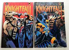 ESZ6655 Set of 2 BATMAN Knightfall Part One Two Trade Paperback DC Comics 1993'