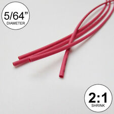"5/64"" ID Red Heat Shrink Tube 2:1 ratio wrap (6x9"" = 4 ft) inch/feet/to 2mm"