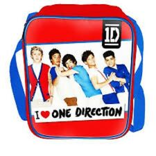 Official One Direction 1D Shoulder Strap Red Insulated School Lunch bag 81247