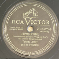 """TOMMY DORSEY ORCHESTRA """"SUMMERTIME"""" Gerswin's 78 RCA VICTOR 20-3523 VG"""