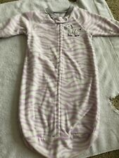 Carter's 0-9 months baby sleep sack sleeping bag blanket sleeper purple zebra