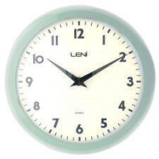 Leni Metal School Wall Clock 24cm Mint Green