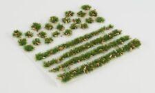 WWS 4mm Summer Alpine Static Grass Modeling Tufts/Strips Mix -Railroad Warhammer