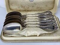 "Set of 6 Spoons Plymouth Silver Co. Monogram ""W"" with Jeweler Display Storage"