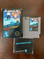 Pro Wrestling Nintendo NES Complete In Box CIB Game And Manual
