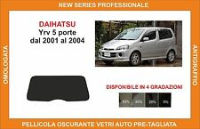 pellicola oscurante vetri dahiatsu yry 5p dal 2001-2004 kit lunotto