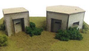 METCALFE 00 gauge layout, scenic, countryside  kit No:P0520 Type22&26 pill box .