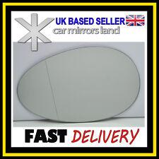 Left Passenger Side Wing Mirror Glass WIDE ANGLE  BMW MINI COOPER MK2 07-13