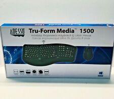 Adesso Tru-Form Media 1500 Wireless Ergonomic Keyboard & Laser Mouse