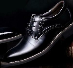 Mens PU Leather Lace Up Carved Brogues Oxford Formal Casual wedding Shoes