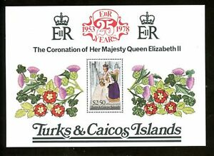 LOT 79743 MINT NH TURKS CALCOS BRITISH COLONY QUEEN ELIZABETH 11 CORONATION