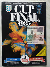 MANCHESTER UNITED v. EVERTON 1985 FA CUP FINAL PROGRAMME & TICKET *VGC*