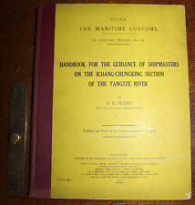 1920 Handbook for Shipmasters on Ichang-Chungking Section of the Yangtze River