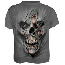 Men Halloween 3D Skull Skeleton Print T-shirts Tops Summer Short Sleeve Tee Tops