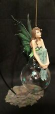 Midnight Green Fairy Figurine By Mystical Creations With Stand