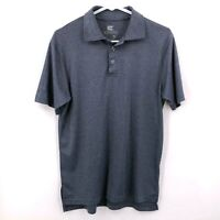Colosseum Men's Shirt Golf Polo Heather Gray Size Small Short Sleeve Side Slits