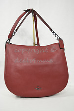 NWT! Coach 58036 Pebbled Leather Chelsea 32 Hobo/Shoulder Bag in Cherry Red