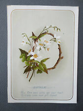 ANTIQUE Birthday Greetings Card  Spray Flowers H M Burnside Verse OLD