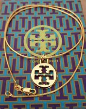 "Tory Burch Authentic Logo Necklace 18"" 18K GF COMES WITH GIFT BOX"