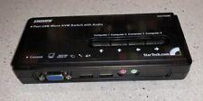 StarTech SV411KUSB 4 Port USB Slim KVM Switch VGA Audio