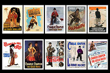 CHARLIE CHAPLIN THE GOLD RUSH  -  FILM POSTERS POSTCARD SET # 1