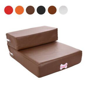 Pet Stair Dog Steps 2 Steps Puppy Cats Ramp Sponge Assist Stair For High Bed
