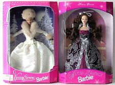 Winter Evening and Winter Fantasy Barbie Dolls Sam's Club Exclusives 1997 & 1998