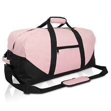 "21"" Large Duffle Bag with Adjustable Strap (Pink)"