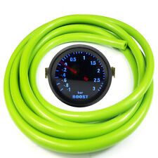 "52mm 2"" AGG-1 Smoked Turbo Boost Gauge -1 to 3 Bar Pressure Green Hose"