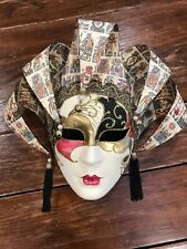 Amazing Original Hand Made & Hand Painted  Venice Mask STAMPED Original 10X12X6